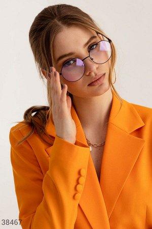 Фигурные очки с прозрачными линзами