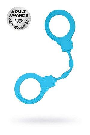 Силиконовые наручники A-Toys by TOYFA, силикон, голубые, 33 см