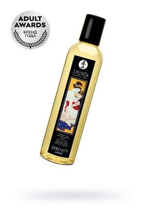 Масло для массажа Shunga Serenity, натуральное, возбуждающее, с цветочным ароматом, 250 мл