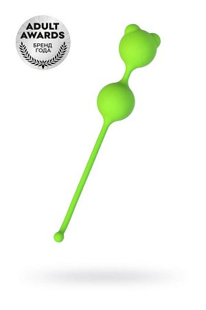 Вагинальные шарики A-Toys by TOYFA, силикон, зеленый, ? 2,7 см