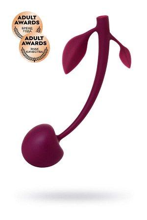Вагинальный шарик JOS CHERRY, силикон, вишневый, ? 3,4 см