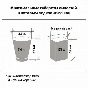 Мешки для мусора 90 л, черные, в рулоне 10 шт., прочные, ПВД 25 мкм, 60х95 см, LAIMA, 605332