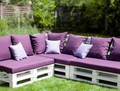 TEXTILE➕№5 - Всё для штор, мягкой мебели, текстиль для дома  — Подушки на паллеты из уличной ткани — Садовая мебель