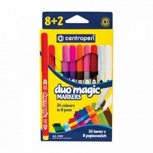 """Фломастеры, меняющие цвет 8 ЦВЕТОВ CENTROPEN """"Duo Magic"""", + 2 изменяющих цвет, 2599/10KK, 5 2599 1002"""