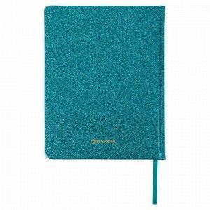 """Дневник 1-11 класс 48 л., обложка кожзам (твердая), фольга, BRAUBERG """"SPARKLE"""", бирюзовый, 105462"""
