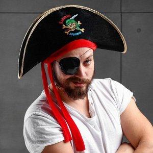 Шляпа пирата «Капитан пиратов», р-р 56-58