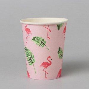 Стакан бумажный «Фламинго», набор 6 шт.