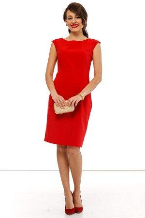 """Платье футляр """"Основной инстинкт"""" красное П2203"""