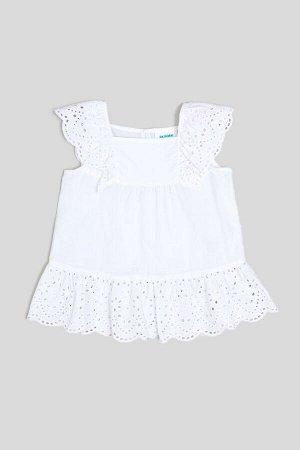Блузка детская для девочек Congo белый