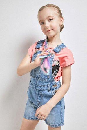 Комбинезон джинсовый детский для девочек Meru голубой