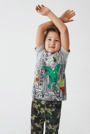 Футболка детская для мальчиков Vidna серый
