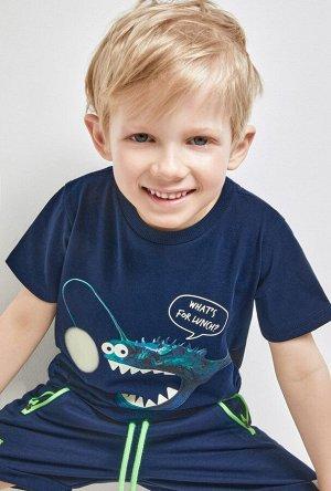 Футболка(Фуфайка) детская для мальчиков Gru темно-синий