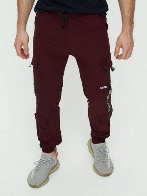 Штаны джоггеры мужские бордового цвета 3011Bo