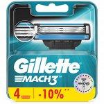 Gillette сменные кассеты Mach3 4 шт
