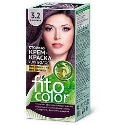 """Стойкая крем-краска для волос """"Fitocolor"""" тон 3,2 Баклажан 115 мл"""