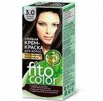 """Стойкая крем-краска для волос """"Fitocolor"""" тон 3.0 Тёмный каштан 115 мл"""