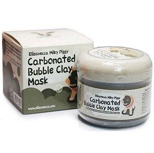 Очищающая глиняно-пузырьковая маска на основе древесного угля Elizavecca Carbonated Bubble Clay Mask, 100мл