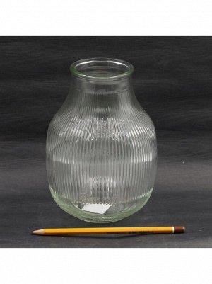 Ваза стекло Джанго D7/12;5 хН17;5 см цвет прозрачный