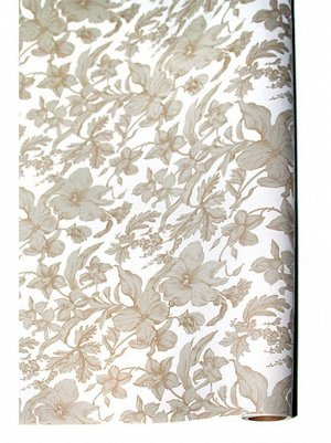 Бумага капелла 41/11-75 Роскошь цветов золото 100 см х 10 м рулон