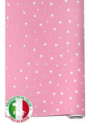 Бумага капелла 41/457-61 sweetики розовые 100 см х 10 м рулон