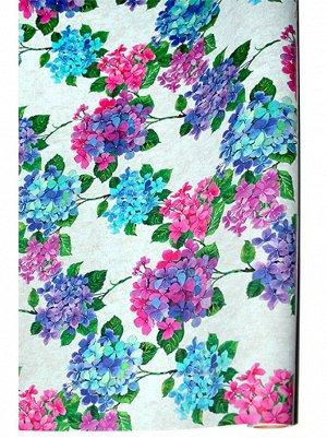Бумага капелла 41/18-50 цветущая гортензия 100 см х 10 м рулон