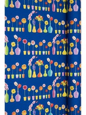 Бумага капелла 450/108-35 Вазы с цветами 100 см х 10 м рулон