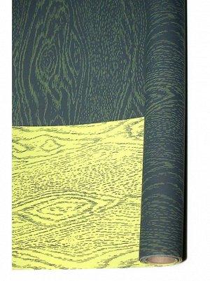 Бумага капелла 42/02-40 двусторонняя дубовая доска серо-салатовая 70 см х 10 м