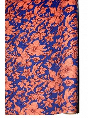 Бумага капелла 41/11-65 Роскошь цветов на пурпурном 100 см х 10 м рулон