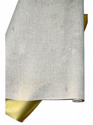 Бумага капелла 42/605-13 двусторонняя лен кремовый с золотом 70 см х 10 м