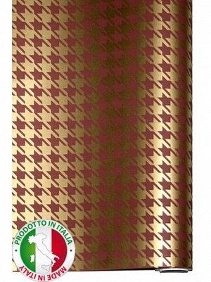 Бумага капелла 41/652-15 Гусиные лапки на коричневом 100 см х 10 м рулон