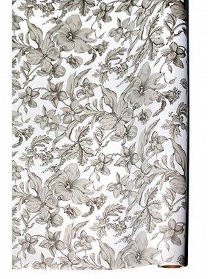 Бумага капелла 41/11-70 Роскошь цветов серебро 100 см х 10 м рулон
