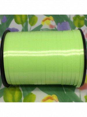 Лента простая 0,5 см х 250 ярд цвет зеленое яблоко полипропилен