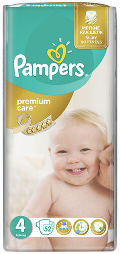 Pampers Premium Care (8-14 кг) уп.52 шт