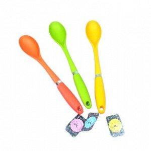 Ложка кухонная, термопластик, силиконовая ручка, серия Колор