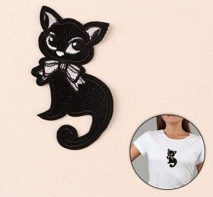 Термоаппликация «Кошка», 11*6 м, цвет чёрный 1шт