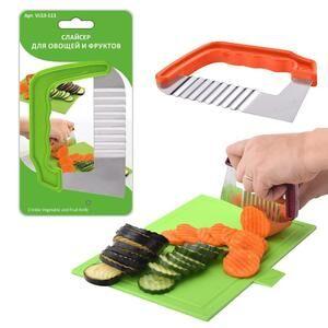 Резак для овощей и фруктов, пластик, сталь