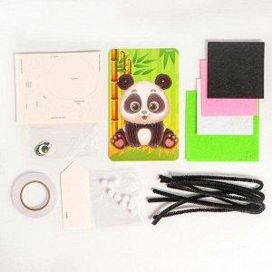 Набор для творчества «Мягкая аппликация: панда»