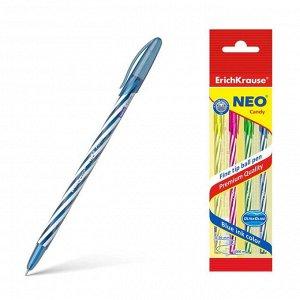 """Ручка шариковая ErichKrause """"Neo Candy"""" чернила синие, 4 штуки"""