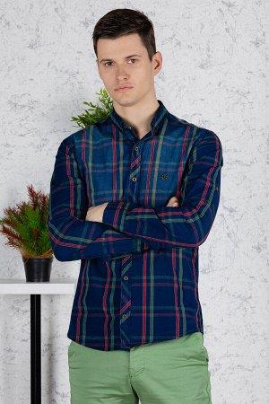Рубашка Модель: A1-модель. Цвет: синий. Комплектация: рубашка. Состав: хлопок-100%. Бренд: Tricko. Фактура: полоса. Посадка: casual.