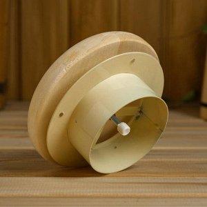 Вентиляционный клапан из липы, D=10см, основание металл
