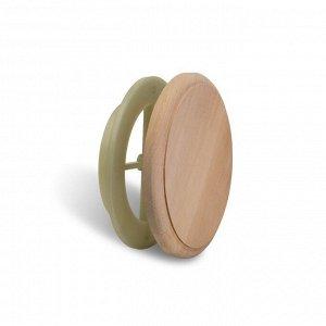 Вентиляционный клапан Alder wood, D=10см, основание термопластик