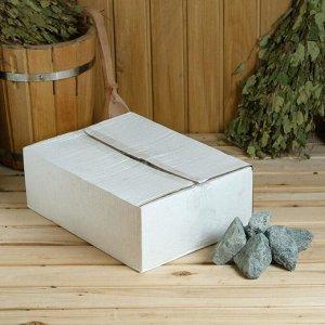 "Камень для бани ""Габбро-диабаз"" колотый, ""Добропаровъ"" коробка 20кг, фракция 70-120мм"