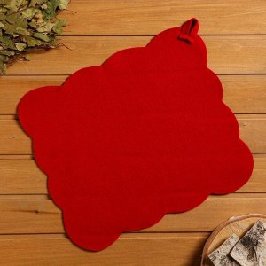 """Набор банный портфель сумка красная шапка,коврик,рукавица """"Рэд"""""""