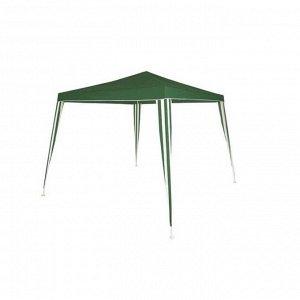Шатер садовый 3*3м зеленый, открытый зауженный