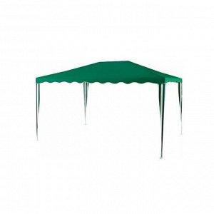 Шатер садовый 4*3м зеленый, открытый