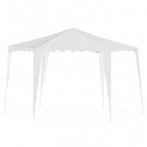 Шатер садовый 2*2*2м гексагональный, белый, открытый