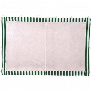 Стенка для шатра 3*2м бело-зеленая с москитной сеткой