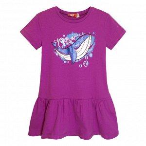8205 Платье для девочки (лиловый)