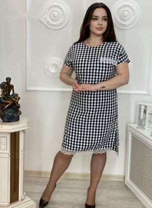 Платье Ткань клетка жатка