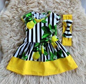 ПЛ142-К Платье «Лимоны2»